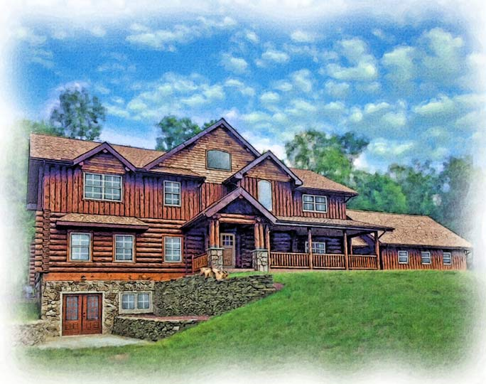 custom-watercolor-portrait-large-log-cabin