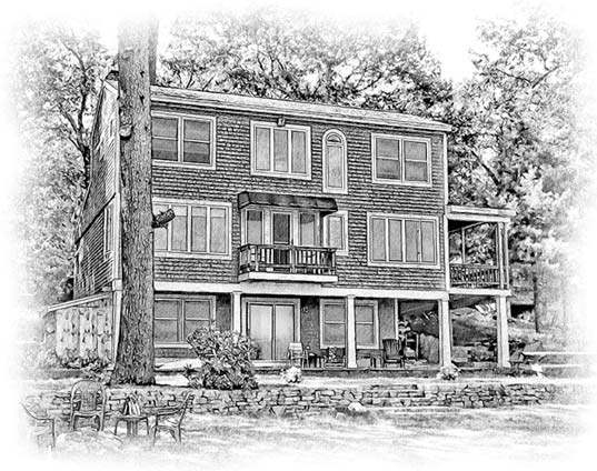 house sketch three story house
