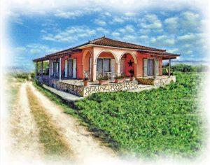 watercolor portrait tuscan villa